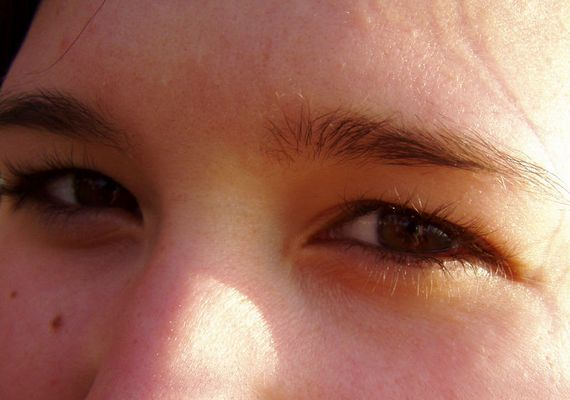 Strahlende Augen