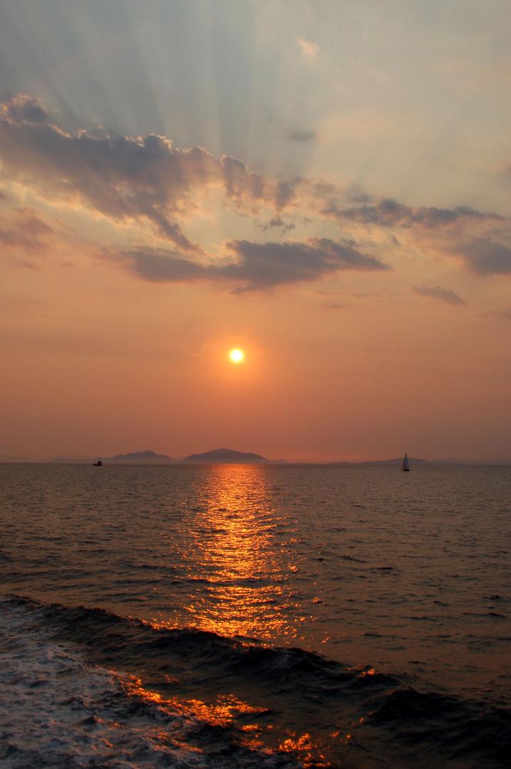 strahlender Sonnenuntergang