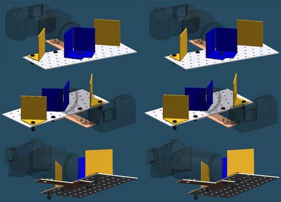 Strahlenteiler für Sony DSC f717 [für 3D-Bilder ]