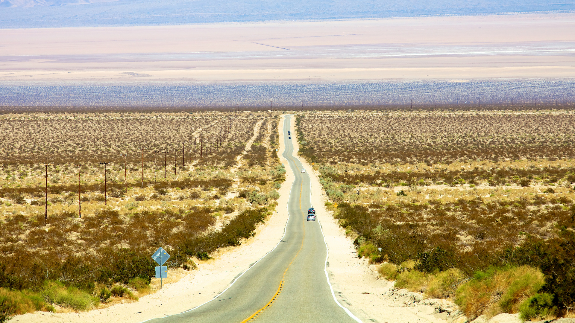 Straight down to Mojave