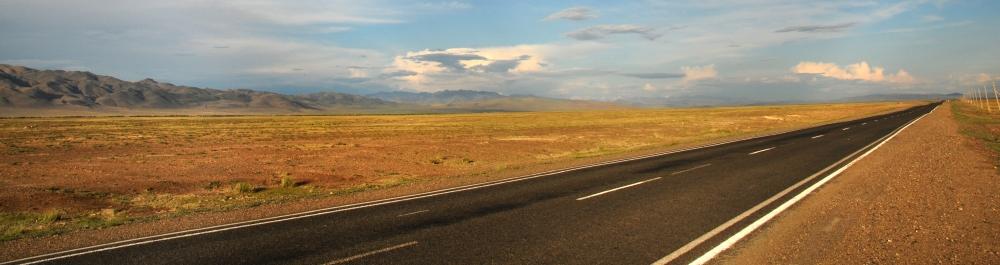 straight line to mongolia