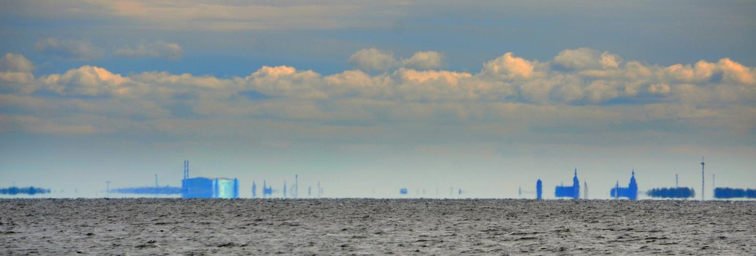 Stralsund von Neuendorf aus gesehen