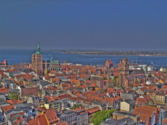 Stralsund von oben in HDR