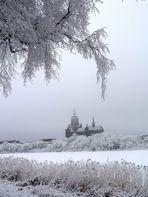 Stralsunder Marienkirche im Wintermärchen