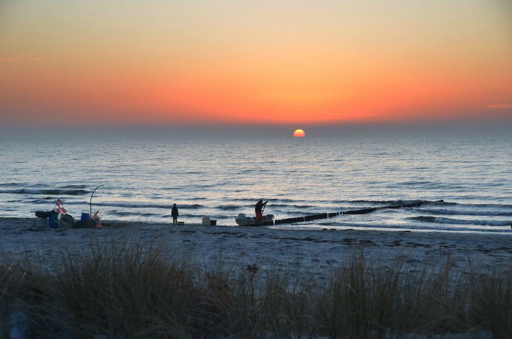 Strand Abend Februar