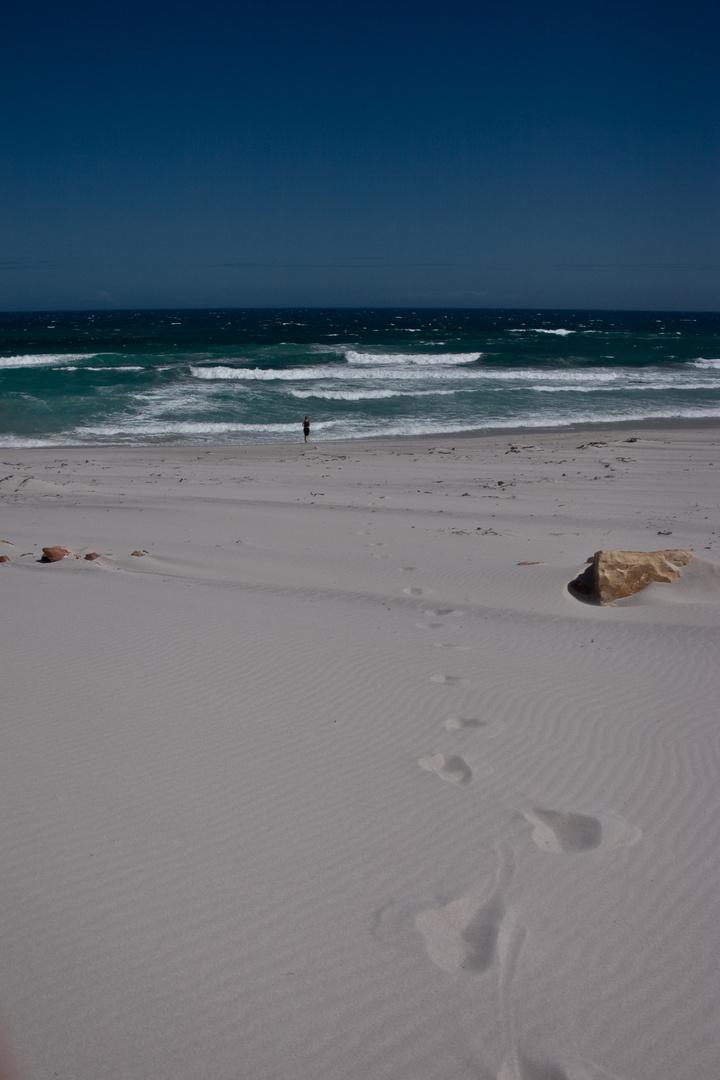 Strand allein