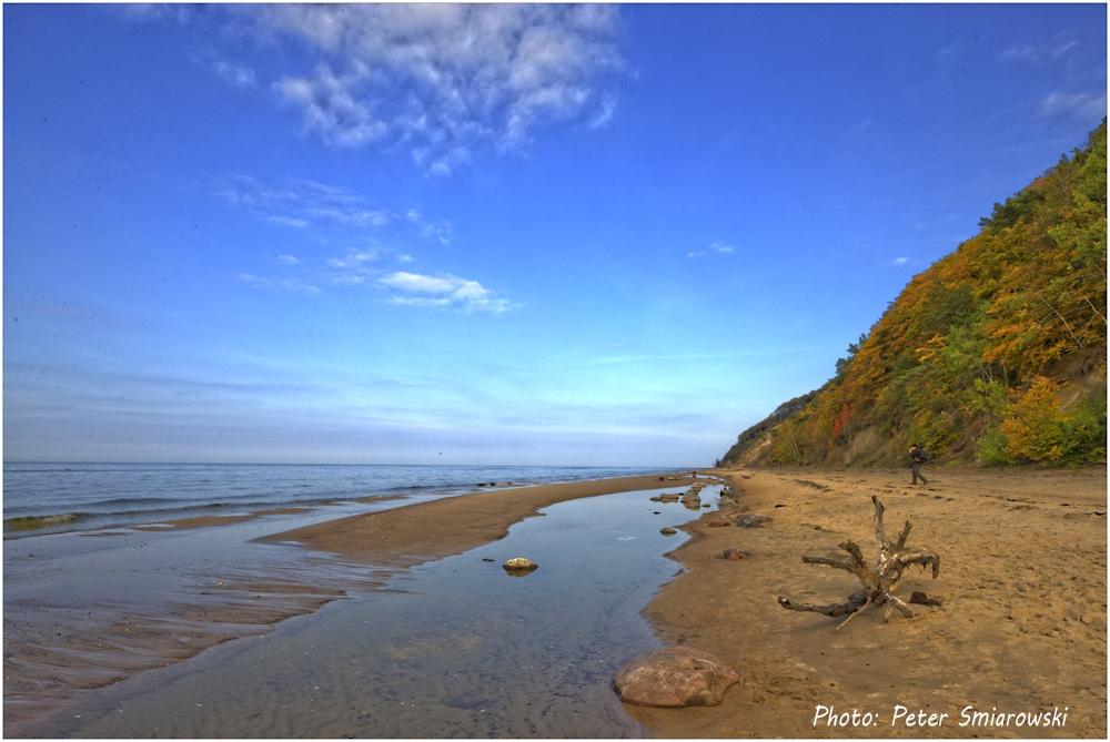 Strand an der Ostsee in Polen