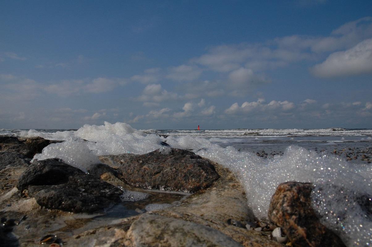 Strand auf Norderney an Ostern