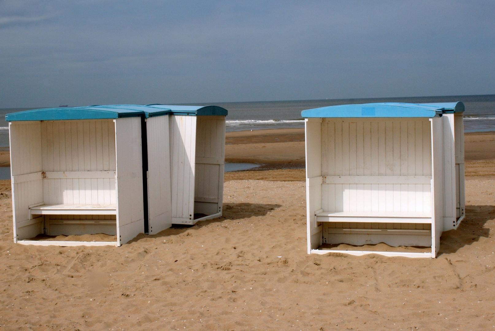 Strand bei Katwijk an der Nordsee im Mai