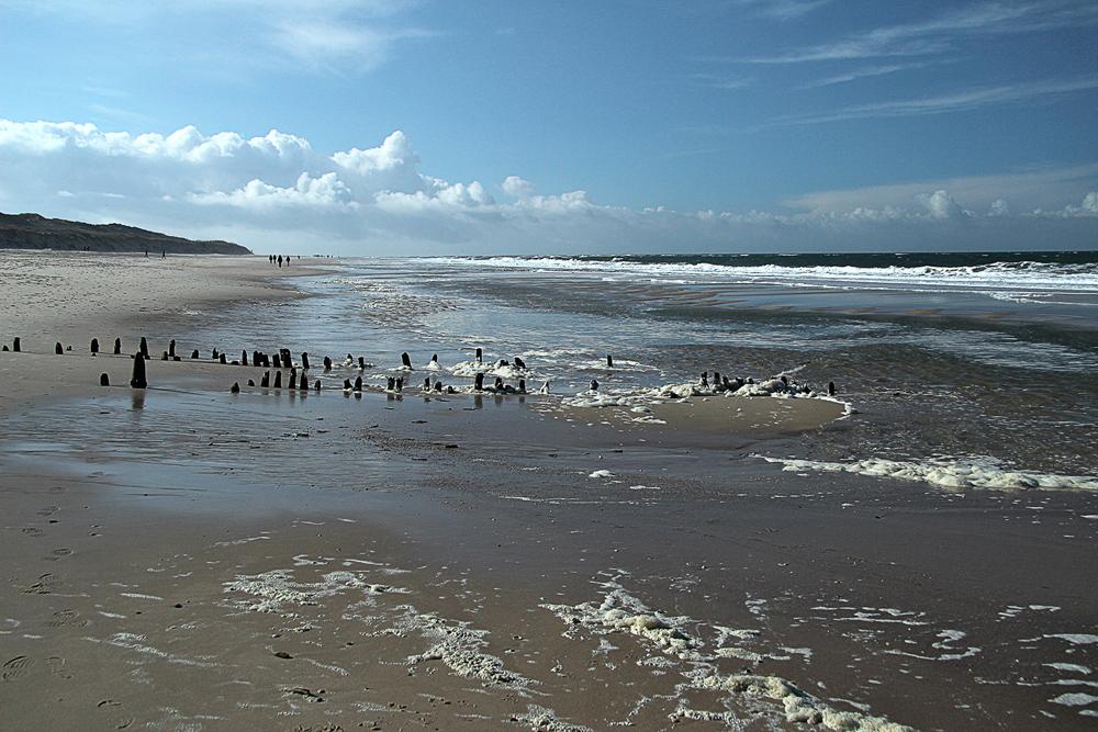 Strand bei Niedrigwasser
