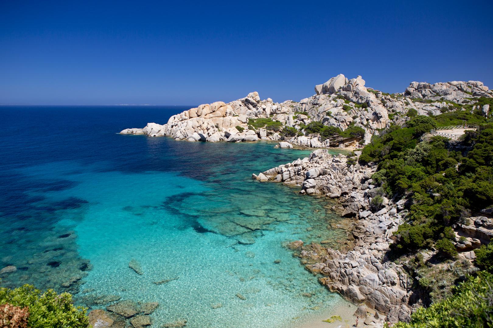 Strand Capo Testa in Sardinien