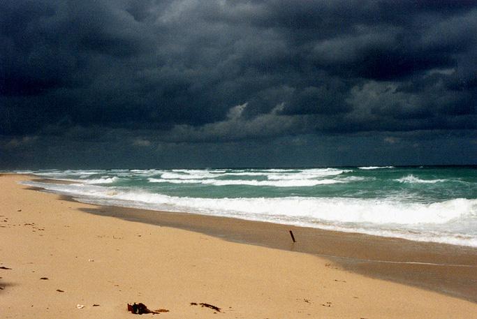 Strand im Dezember