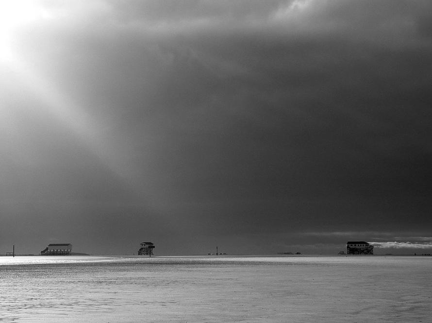 Strand im Gegenlicht...