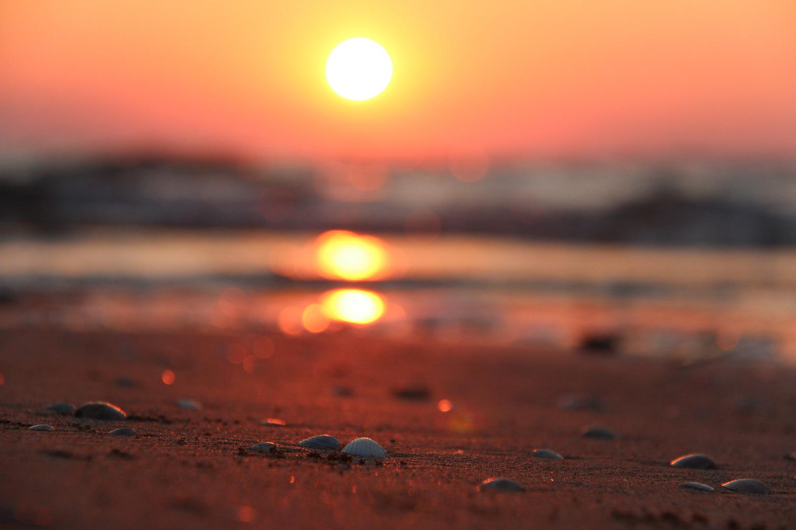 Strand im LIGNANO bei Sonnenaufgang