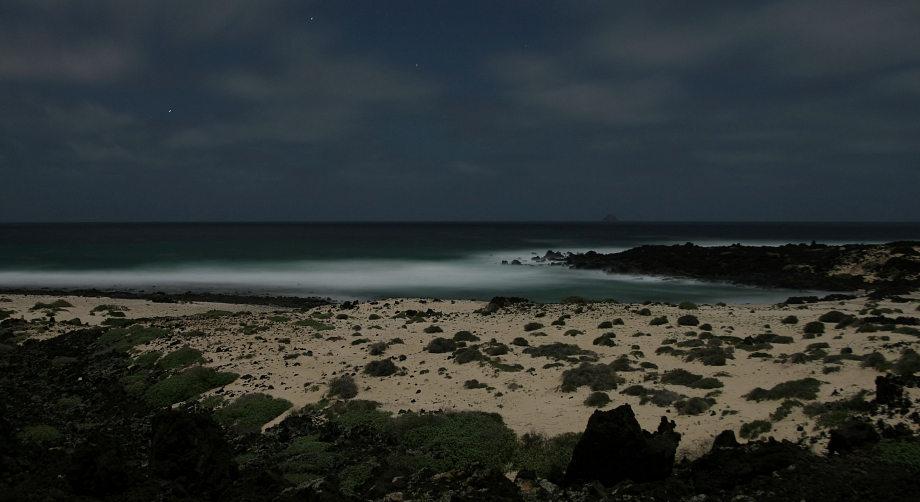 Strand im Mondlicht