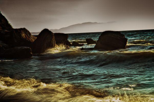 Strand in Özdere Türkei