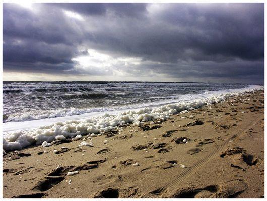 strand, meer, schaum..
