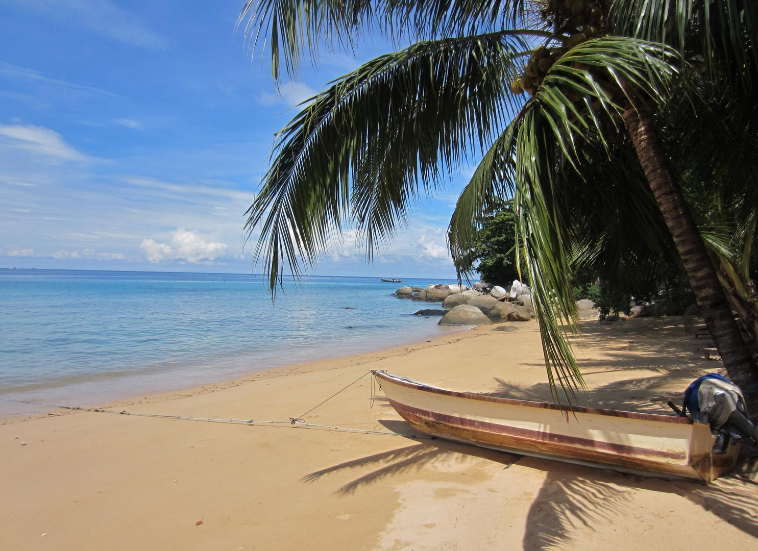 Strand mit Boot
