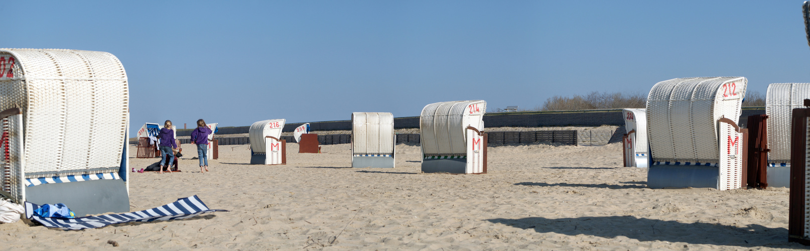 Strand Panorama Cuxhaven