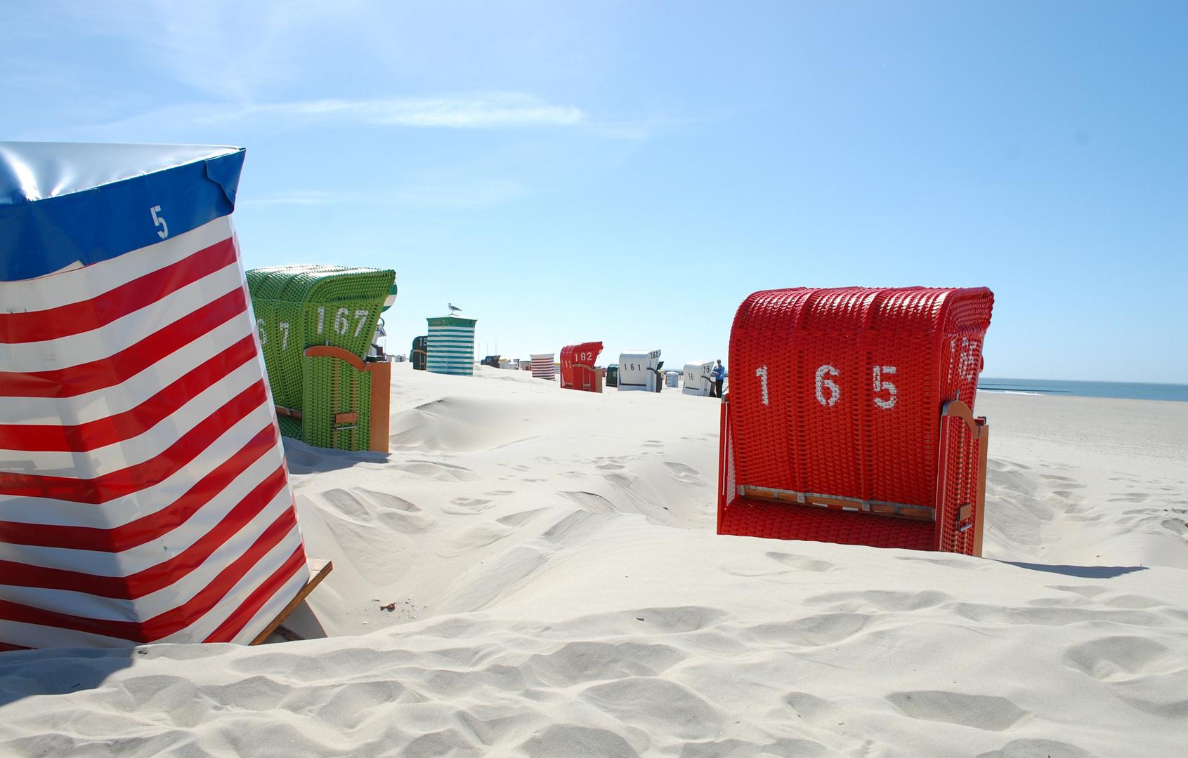 Strand und Korb