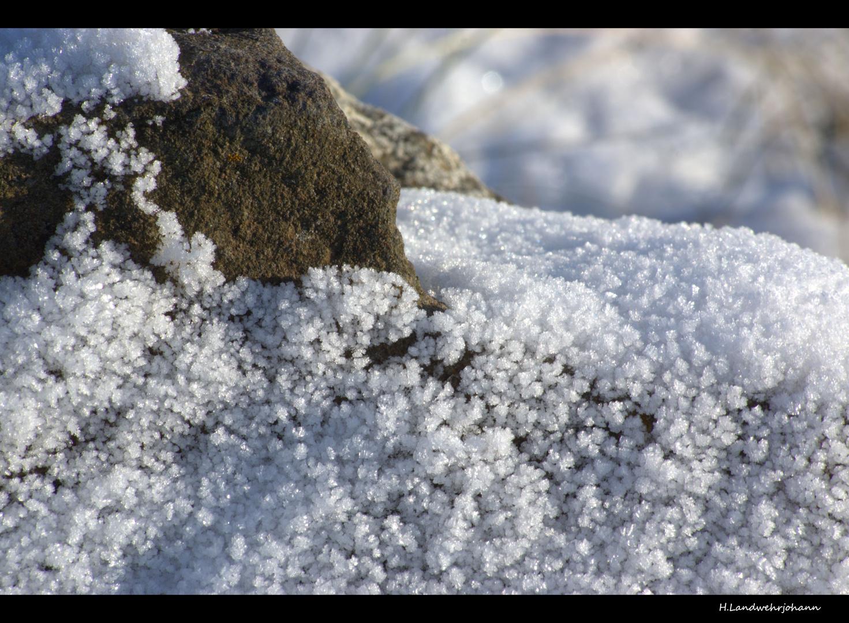 Strand und Schnee