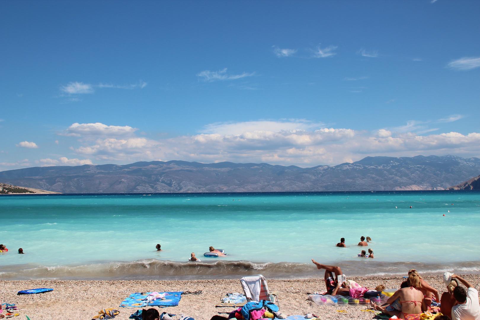 Strand von Baska/Insel Krk/Kroatien