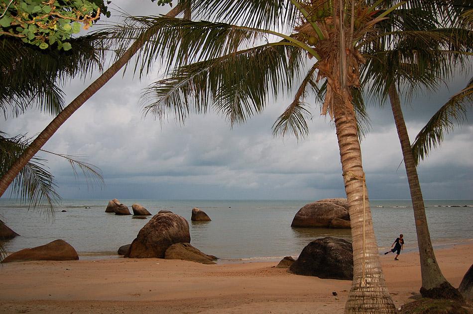 Strand von Koh Samui am Abend