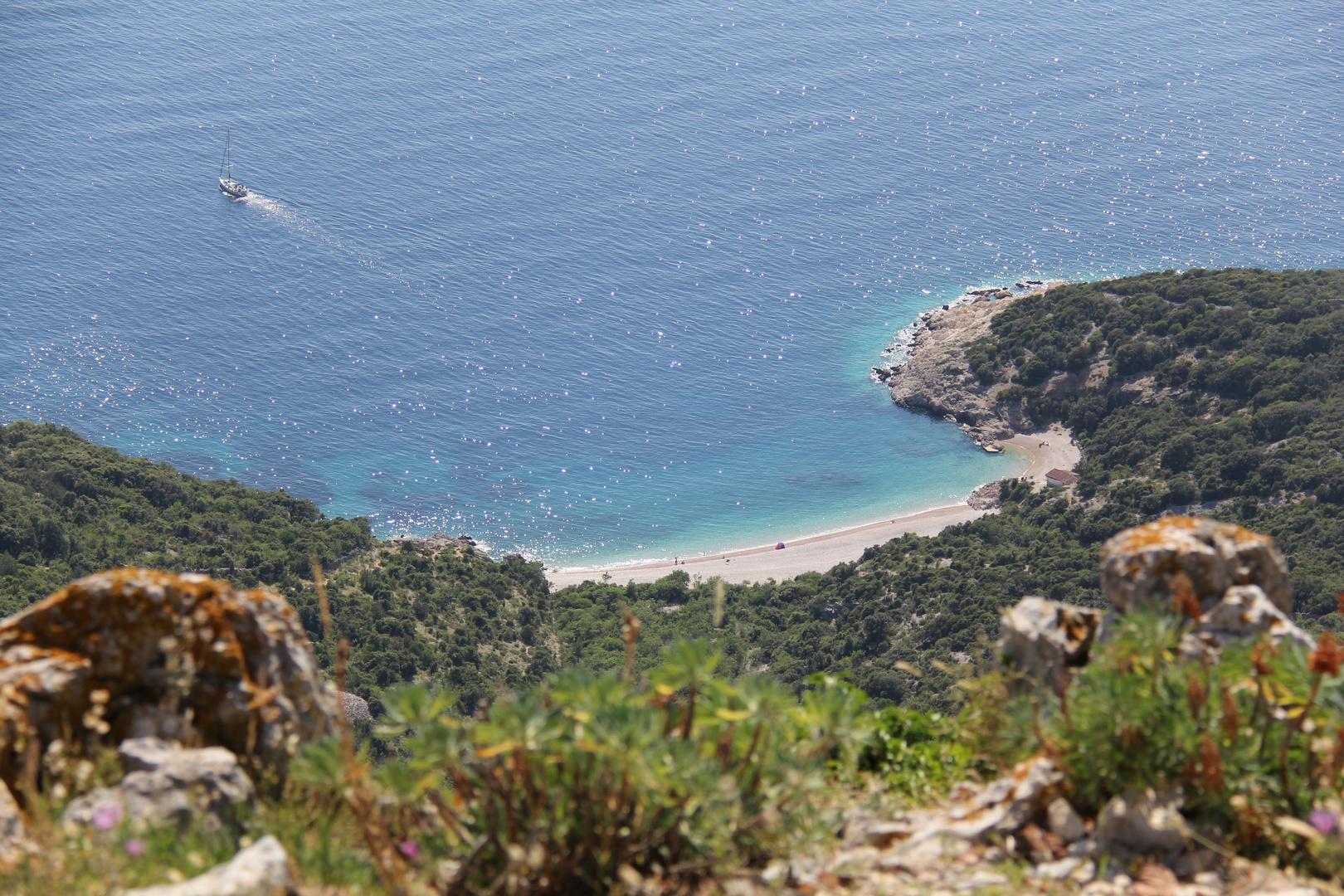 Strand von Lubenice, Croatia