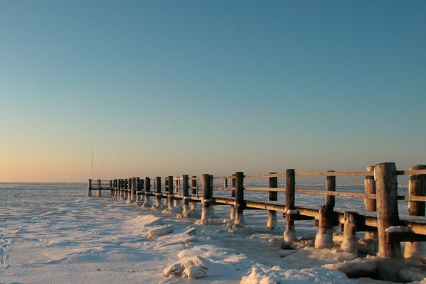 Strandbrücke Utersum Winter 2010