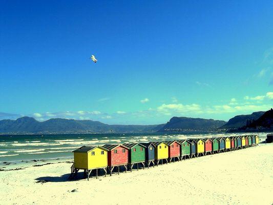 Strandbuden in Muizenberg Südafrika