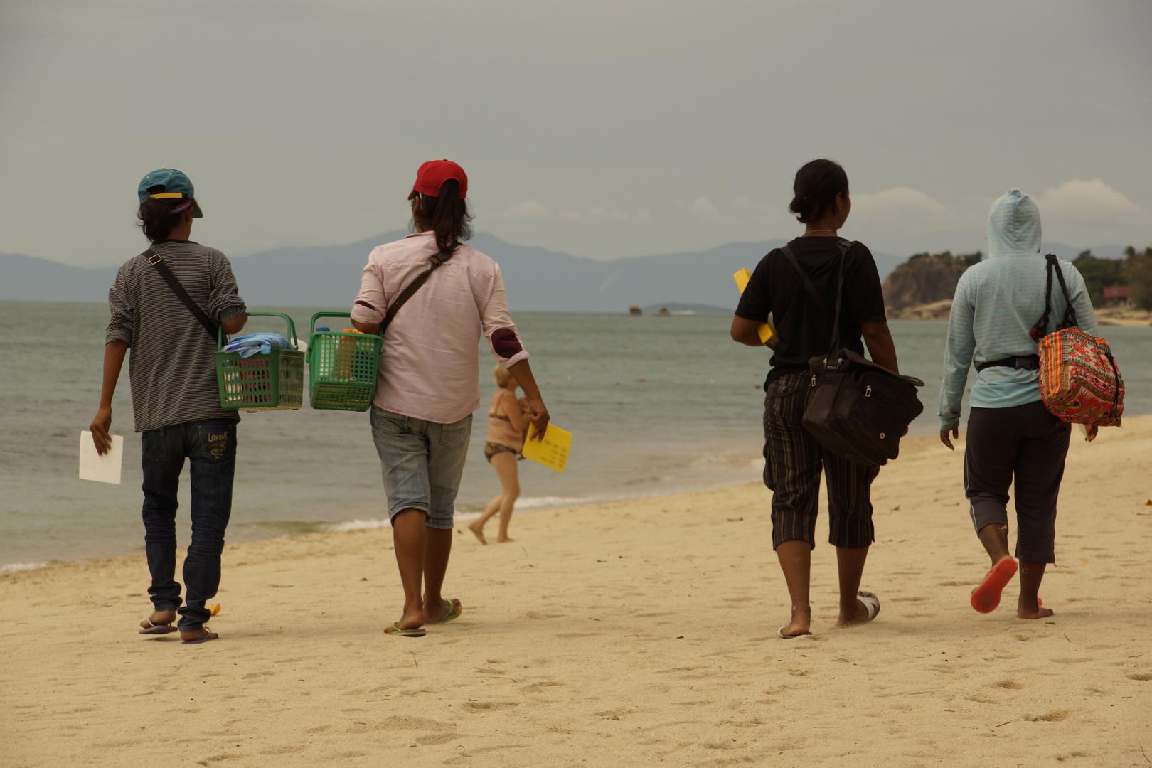 Strandfusspflegerinnen