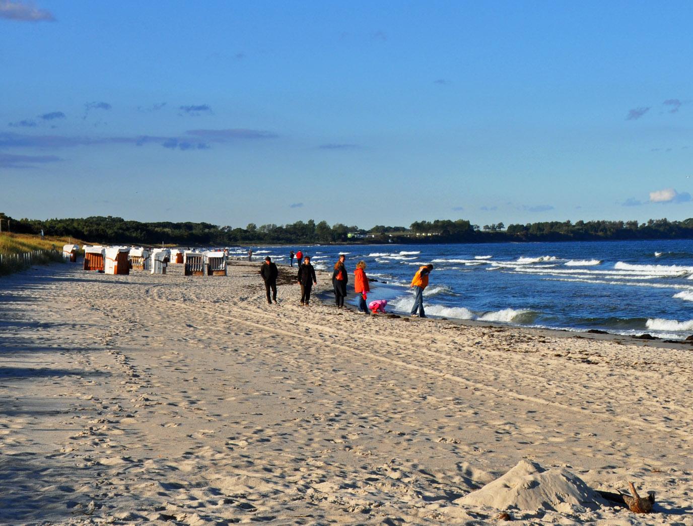 Strandgang im Herbst