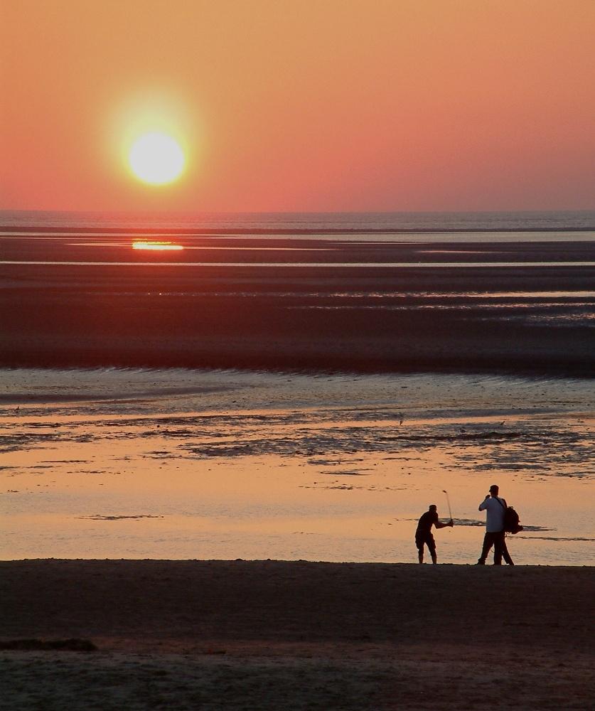 Strandgolf - Sonnenuntergang auf Spiekeroog