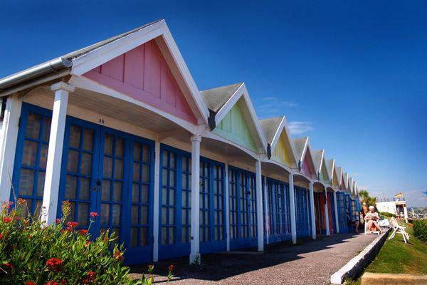 Strandhäuser in Südengland