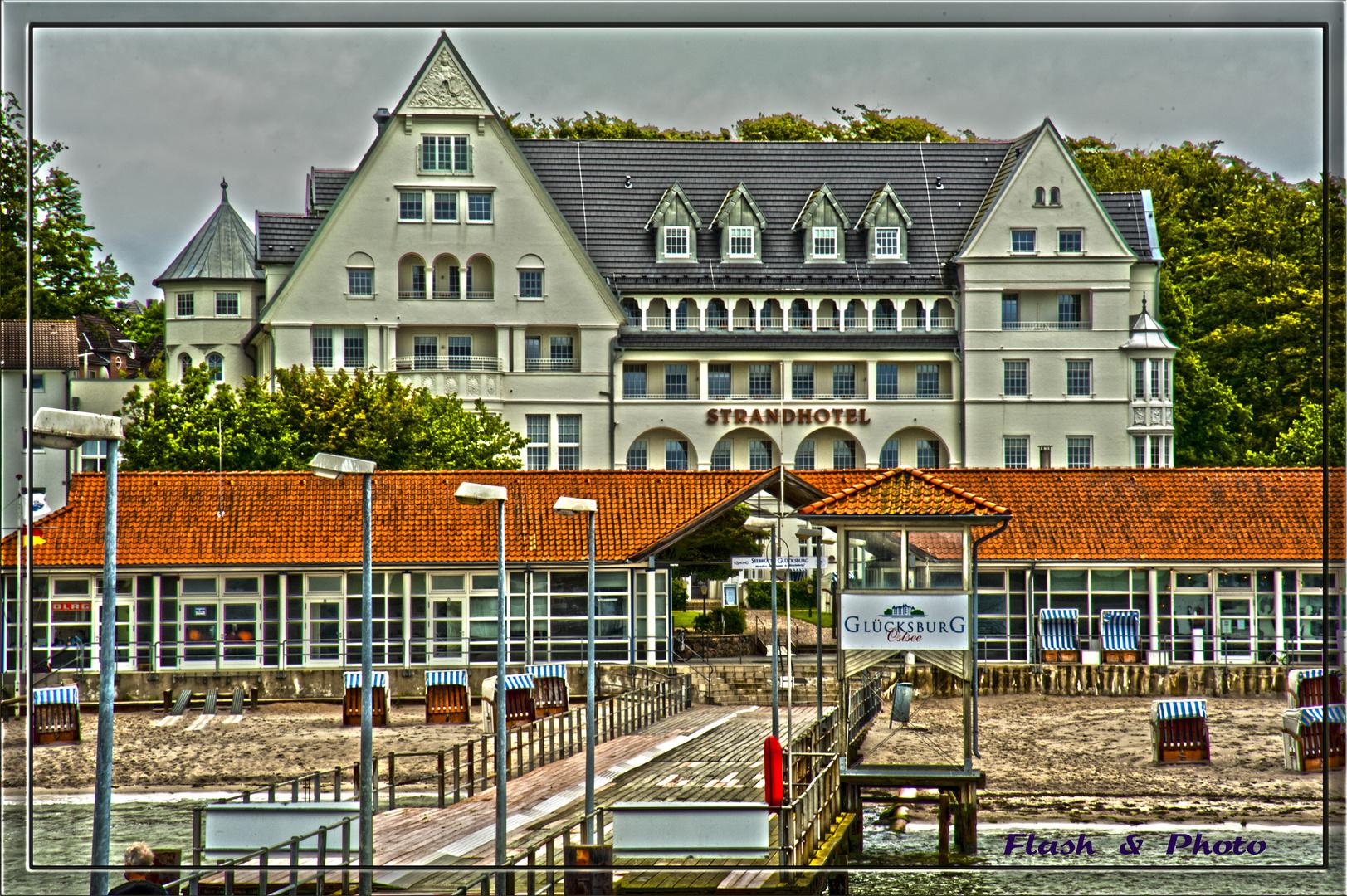 Strandhotel in Glücksburg (Ostsee)