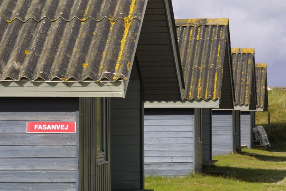 Strandhütten in Dänemark
