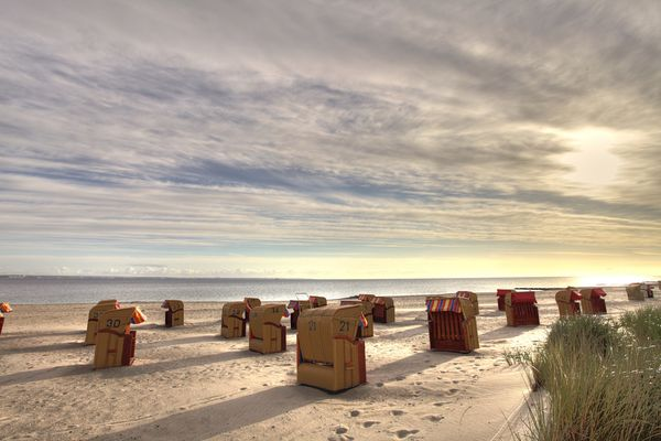 Strandkörbe am Strand von Niendorf / Ostsee