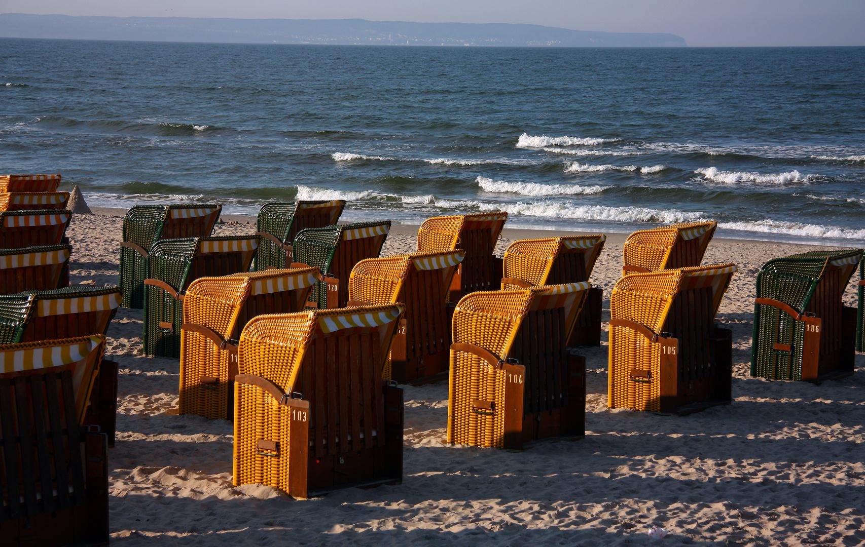 Strandkörbe an der Ostsee bei Binz