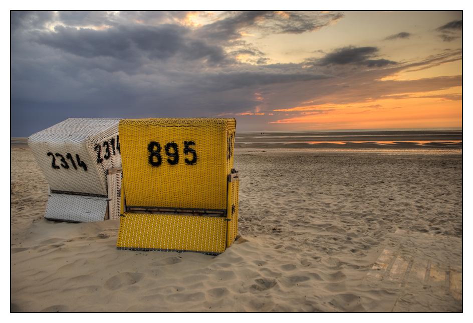 Strandkörbe auf Langeoog