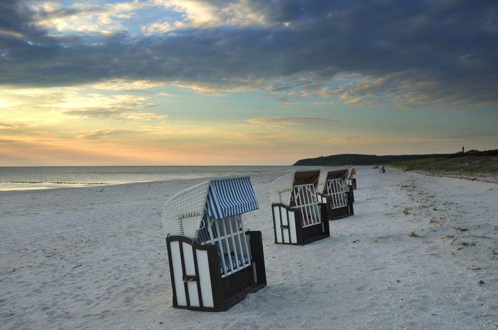 Strandkörbe Sunset Hiddensee