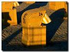 Strandkorb Gelb