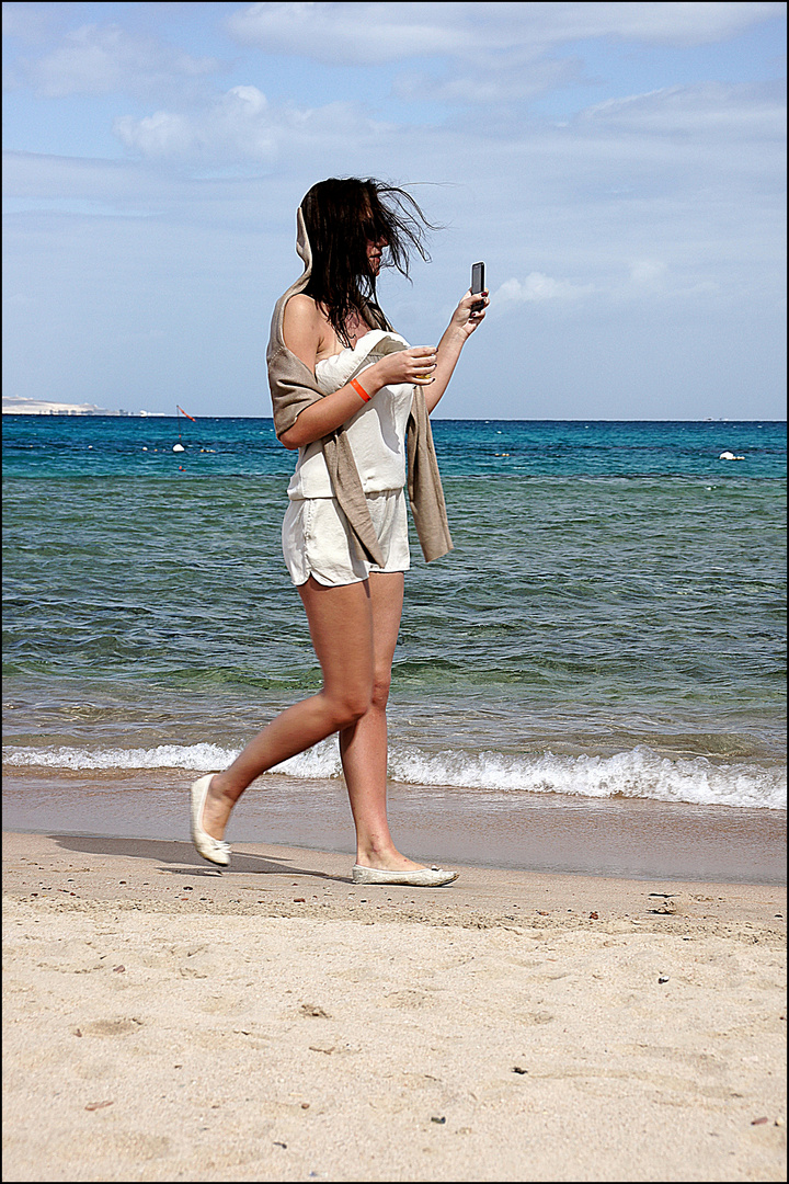 Strandlauf in Ägypten