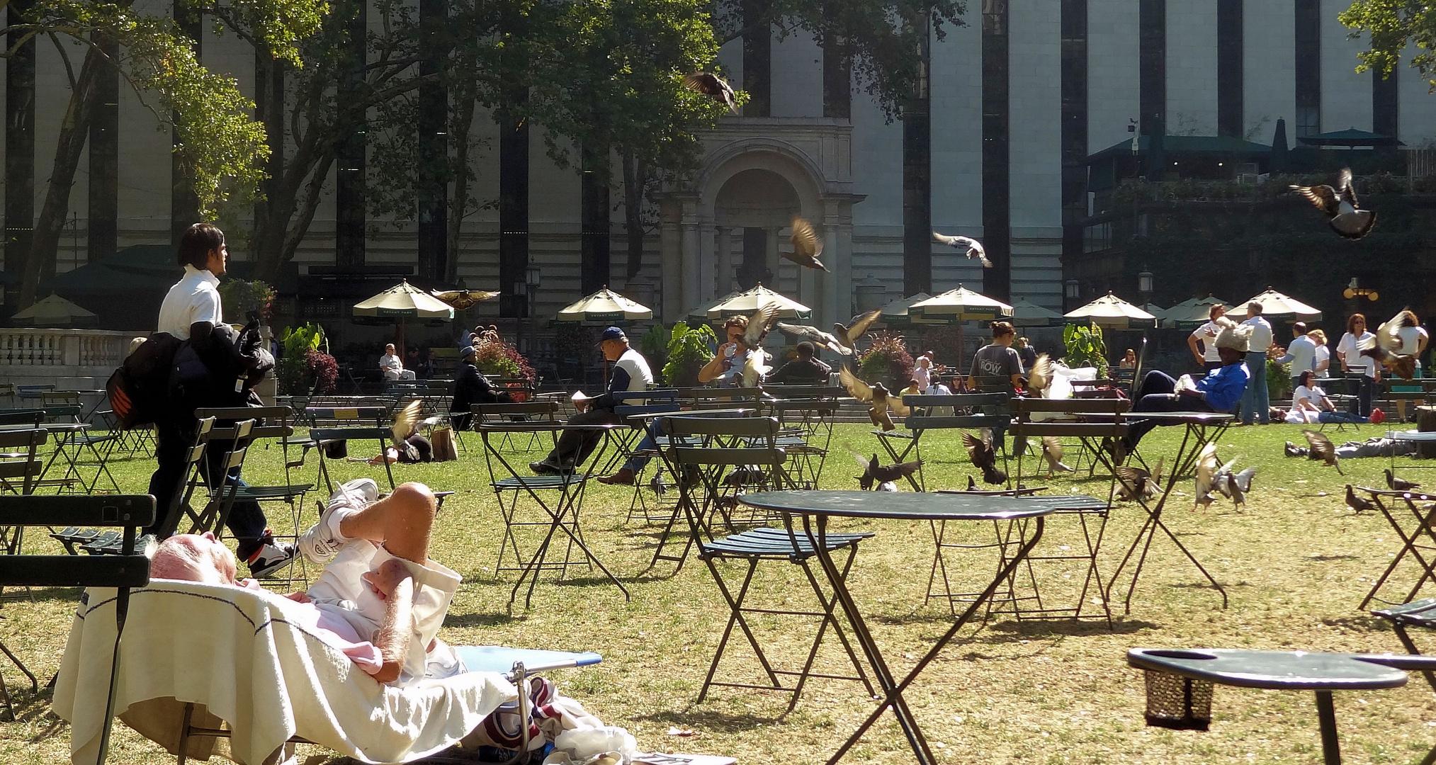 'strandleben' im bryant park