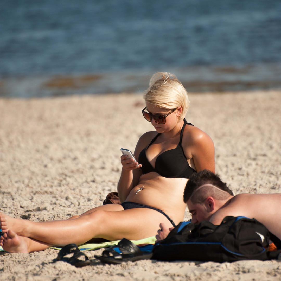 Strandleben im September 3