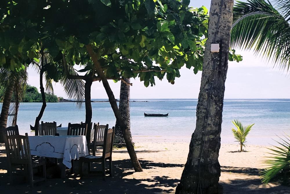 Strandrestaurant auf Madagaskar