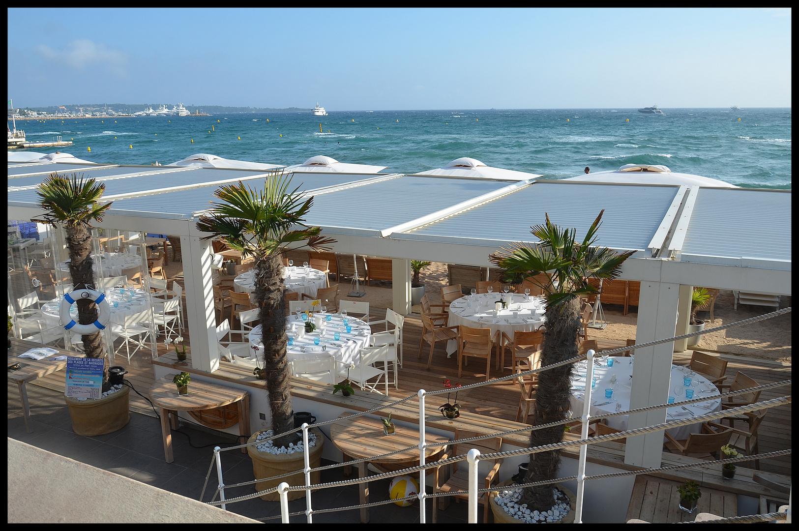 Strandrestaurant in cannes