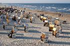Strandszene mit Strandkörben in Heringsdorf