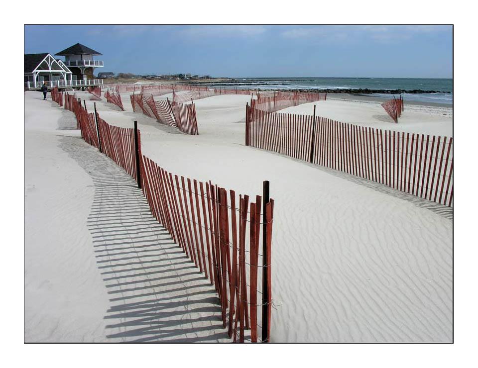 Strandzäune in Rhode Island