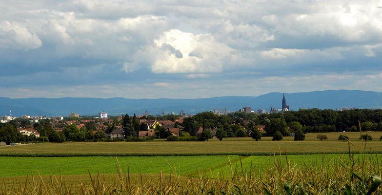 Strasbourg au loin...