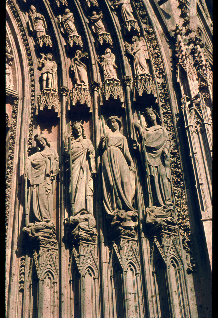 Strasbourger Katedrale Eingangstor Relief